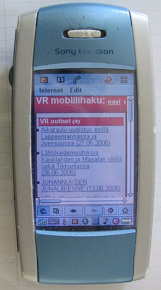 UIQ - Sony Ericsson P800, the first device running Symbian UIQ to ship