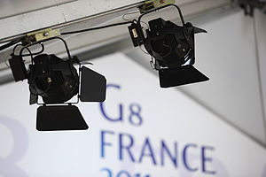 Source Four PAR - Source Four PAR lights used at the 37th G8 summit in Deauville, France.