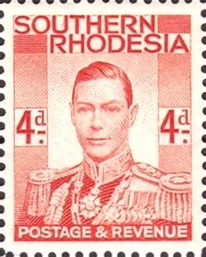 Bertram Park - Park provided the photograph of George VI on which this Southern Rhodesian stamp was based and for many other stamps and official documents.