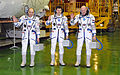 Soyuz TMA-03M crew members in their Sokol spacesuits.jpg