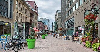 Downtown Ottawa - Sparks Street is a pedestrian mall in Downtown Ottawa, closed off to vehicle traffic.
