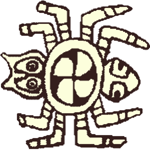 Cultural depictions of spiders - Pre-Columbian spider image from a conch shell gorget at the Great Mound at Spiro, Oklahoma