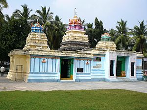 Andhra Vishnu - View of Srikakulandhra Maha Vishnu Temple, Srikakulam village, Krishna District, Andhra Pradesh