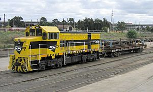 Southern Shorthaul Railroad - T381 in Melbourne in May 2006