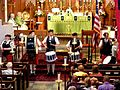 St. Andrew's Society Pipe Band, Canada and USA Freedom Sunday, Historic Trinity Lutheran Church, 2013-06-23.jpg