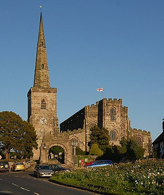 Grade I listed churches in Cheshire - Image: St. Mary's , Astbury geograph.org.uk 1528424