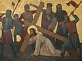 St. Michael, Waldniel, Stations of the Cross, Station 03, Jesus Falls for the First Time.jpg