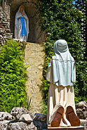 St. Peter & Paul Catholic Church grotto and garden.