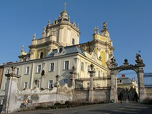 St George's Cathedral in Lviv, Ukraine is an U...