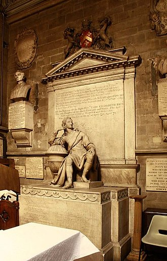 Holland House - Monument to Edward Henry Rich, 4th Earl of Holland, 7th Earl of Warwick (1697–1721), St Mary Abbots Church, Kensington