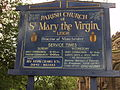 St Mary the Virgin church sign, Leigh, Greater Manchester - DSC09975.JPG