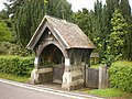 St Mary the Virgin with St John the Baptist Church, Newtown, Lych gate - geograph.org.uk - 1319769.jpg