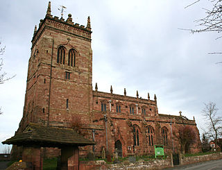 St Marys Church, Acton Church in Cheshire, England