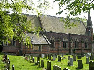 St Michael and All Angels Church, Crewe Green Church in Cheshire, England