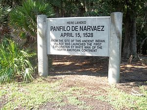 Pánfilo de Narváez - Marker at the Jungle Prada Site