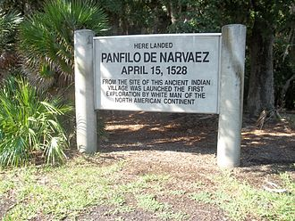 Narváez expedition - Marker at the Jungle Prada Site