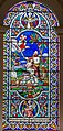 Stained glass window, All Saints' church, Gainsborough (18007069549).jpg
