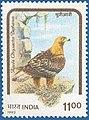 Stamp of India - 1992 - Colnect 164337 - Himalayan Golden Eagle Aquila chrysaëtos daphanea.jpeg