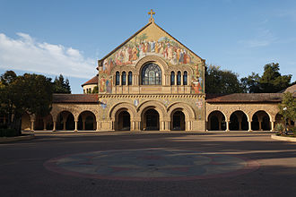 Stanford Memorial Church - North façade of the Stanford Memorial Church from the Main Quad