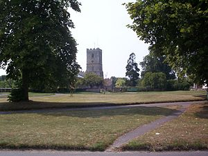 Village green - The village green in Stanford in the Vale, Oxfordshire, England