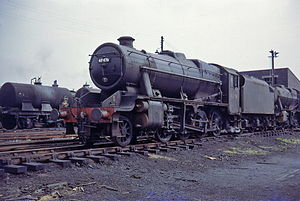 LMS Stanier Class 8F - Stanier 8F No. 48476 at Lostock Hall shed, late July 1968