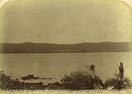 StateLibQld 2 257782 Dunwich shore vista da Peel Island, ca.  1885.jpg