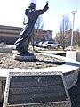 Statue of Father Baraga historical marker.jpg