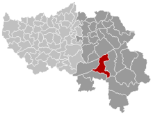 Location of Stavelot trong tỉnh Liège