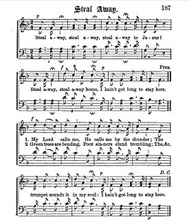 Steal Away song with lyrics by Wallace Willis performed by Fisk Jubilee Singers