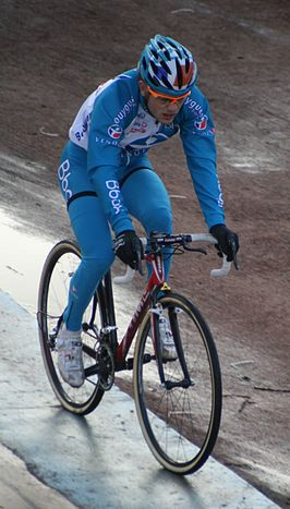 Steve Chainel in de veldrit van Roubaix in 2009