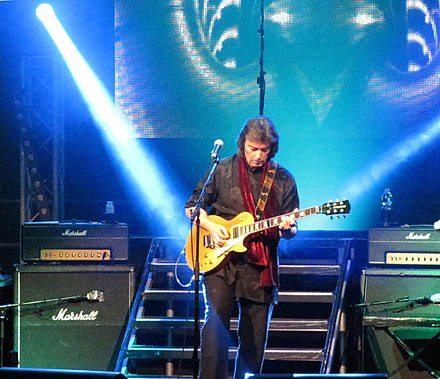 Hackett performing Genesis Revisited in 2013 Steve Hackett 2013.jpg