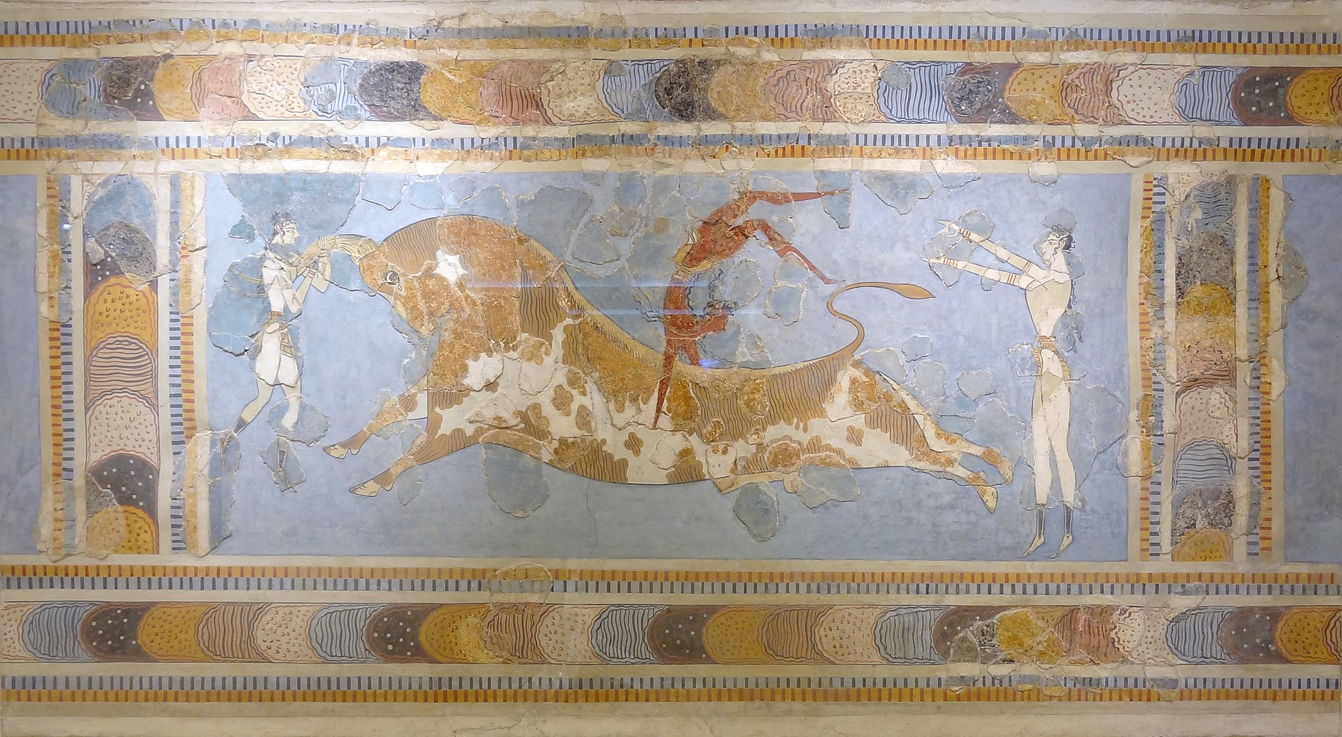 Bull Leaping Fresco, c.1450 BCE, Knossos, Crete, Greece.