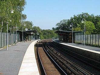 Johannelund metro station - Image: Stockholm subway johannelund 20060913 001