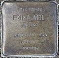 Stolperstein Bayernallee 19a (Weste) Erika Weil.jpg