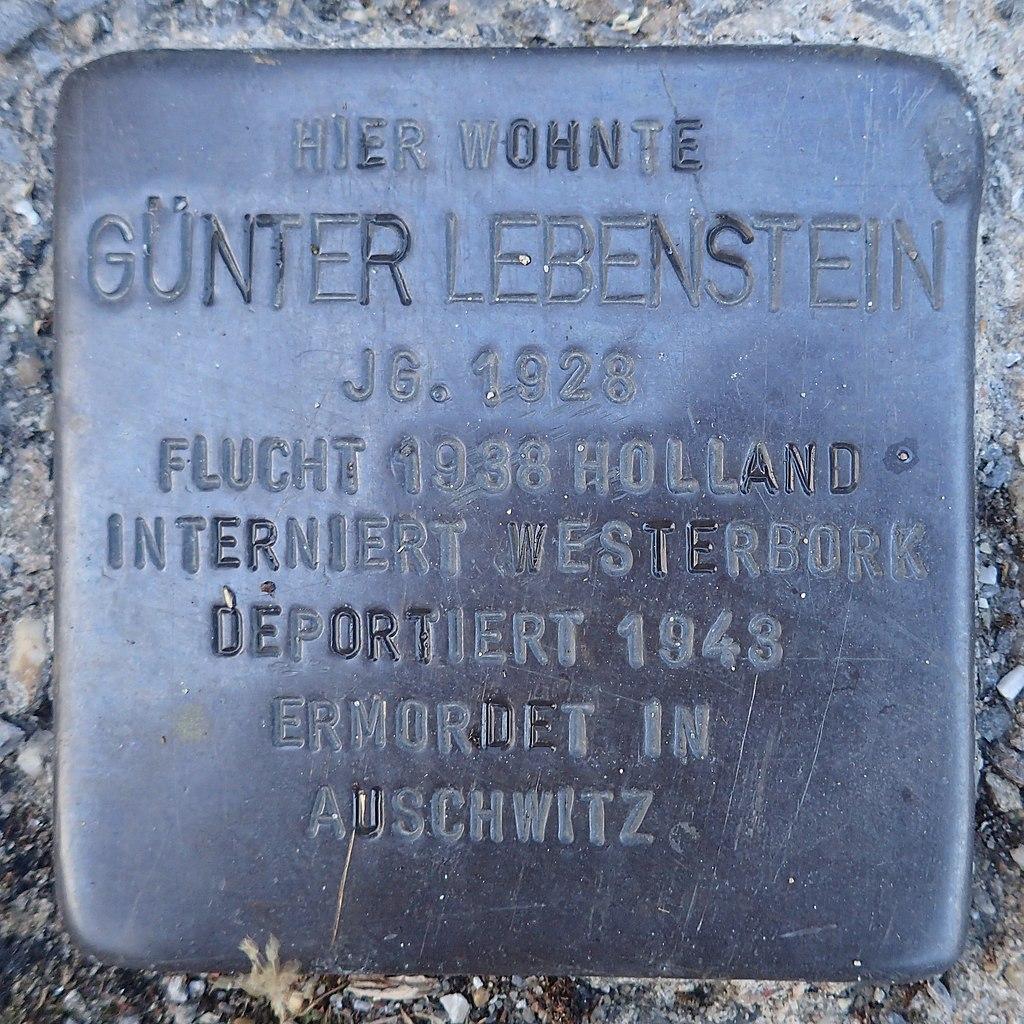 Stolperstein Dorsten Matthäusplatz 2 Günter Lebenstein.jpg