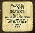 Stolperstein Herschel Grynszpan nach Verlegung.jpg