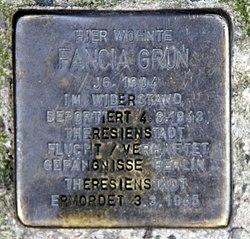 Photo of Fancia Grün brass plaque