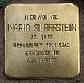 Stolperstein Pariser Str 11 (Wilmd) Ingrid Silberstein.jpg