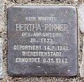 Stolperstein Spichernstr 19 (Wilmd) Bertha Pinner.jpg