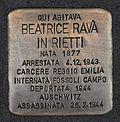 Stolperstein für Beatrice Rava in Rietti.JPG