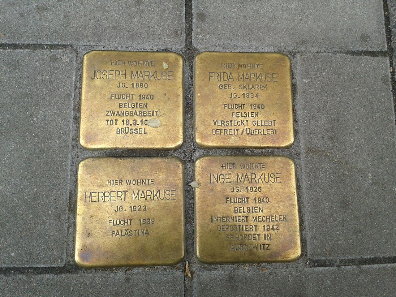 Stolpersteine Köln Helenenwallstraße 1