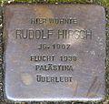 Stolpersteine Krefeld, Rudolf Hirsch (Wilhelmshofallee 74).jpg