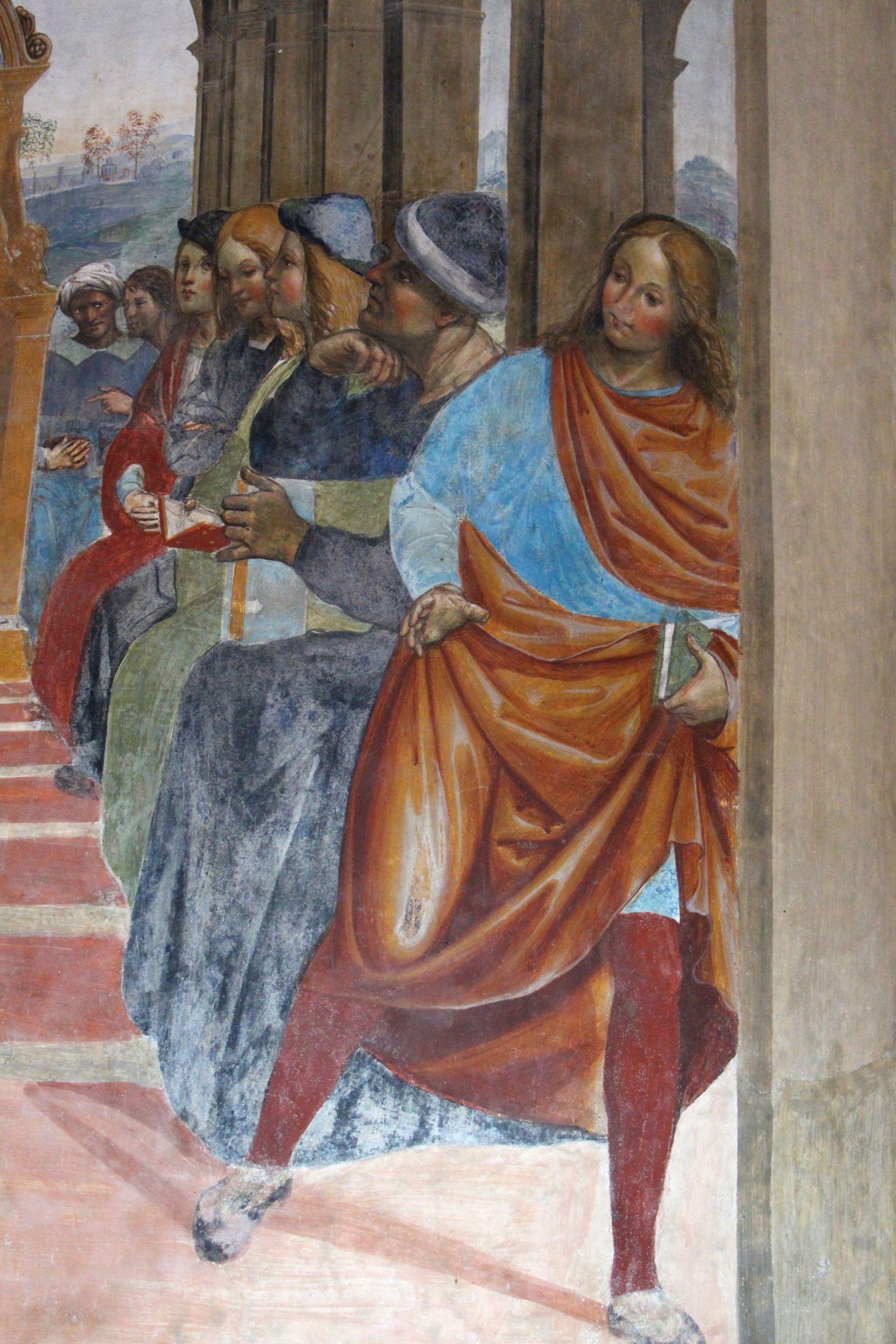 Storie di s. benedetto, 02 sodoma - Come Benedetto abbandona la scuola di roma 05