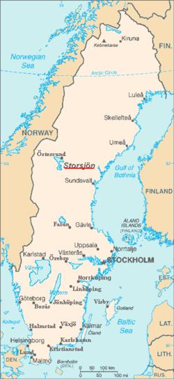 østersund kart Storsjön – Wikipedia østersund kart