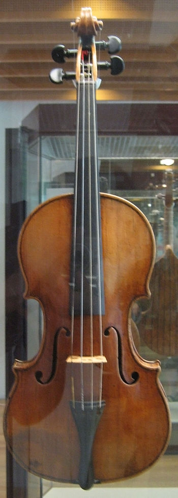 The front view image of the Antonio Stradivari...