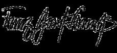 Unterschrift von Franz Josef Strauß