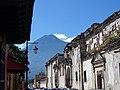 Street Scene with Volcano - Antigua Guatemala - Sacatepequez - Guatemala (15729261208).jpg