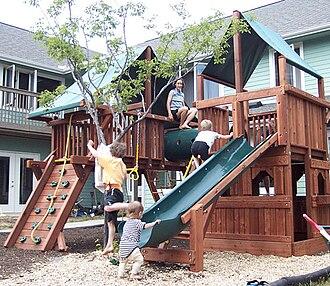 Cohousing - Cohousing playground next to Common House
