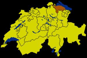 Тургау на карте