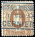 Switzerland Neuchâtel 1879 revenue 3 70c - 7C.jpg